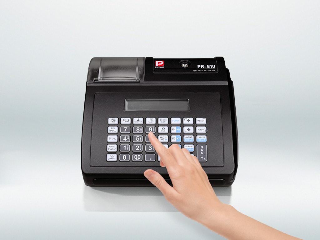Payport PR-810 mali onaylı yazarkasa geniş ve ergonomik tuşu ile hızlı satış imkanı
